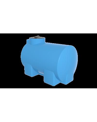 Емкость ЭВГ 500 литров отвод,цвет голубой (горизонтальная)
