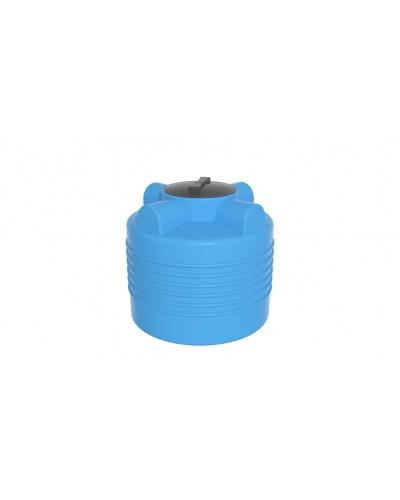 Емкость ЭВЛ 200л. с отводом крышка 350мм (цвет голубой)