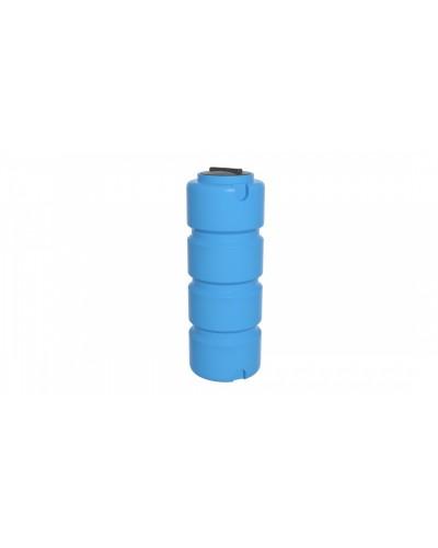 Емкость ЭВЛ 400л. с отводом крышка 350мм (цвет голубой)