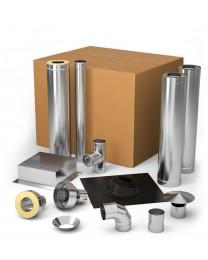 Комплект элементов дымохода для отопительных печей