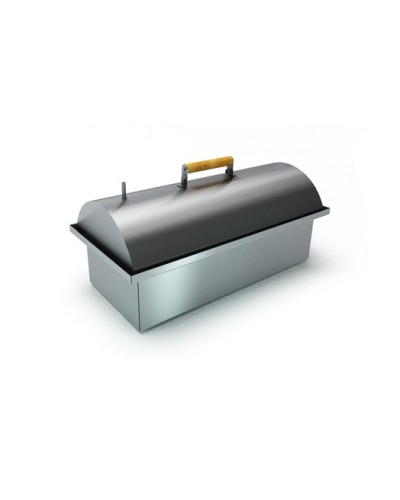 Коптильня двухъярусная с гидрозатвором из нержавеющей стали с купольной крышкой 'Smoky Lux 75'