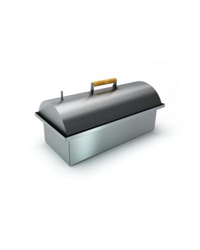 Коптильня двухъярусная из нержавеющей стали с купольной крышкой 'Smoky Lux 55'