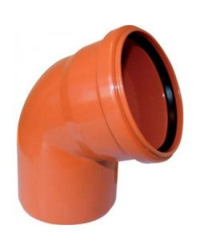Отвод внутренний Д=110 мм 45 гр (Рыжий)